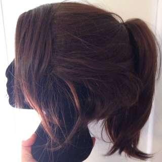 Short Brunette Wig