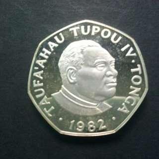 Tonga Christmas Coin 1982 W/COA