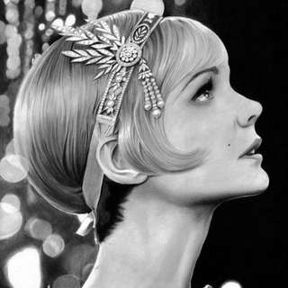 Great Gatsby Daisy 1920s headpiece flapper hair accessory for sale or rent