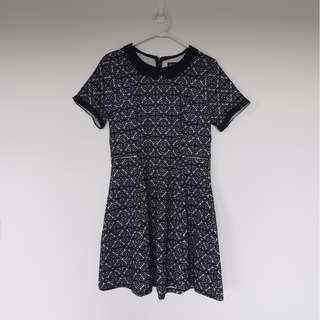 Dotti Black collar Black Dress size 10