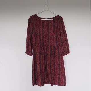 3/4 Sleeves Red dress size 10