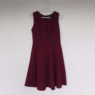 Red Wine cocktail mini dress size 10