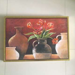 Flower Painting with Frame