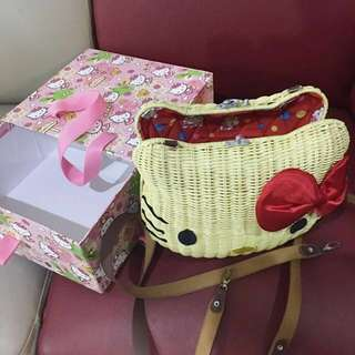 Hello Kitty Ratan Handmade Handbag