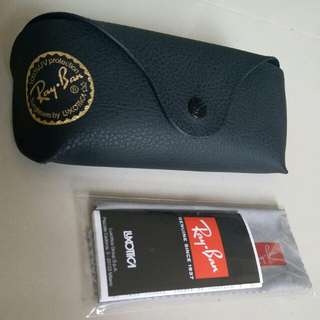 Ray-Ban eyeglass case 眼鏡盒連抹布