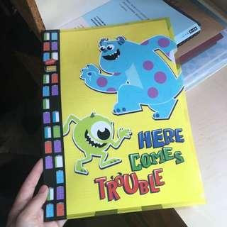 怪獸公司 A4 folder