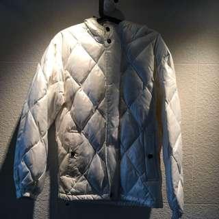 免費捐贈 購自日本珍珠色uniqlo 夾綿外套