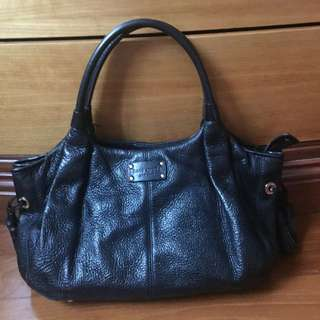 Kate space pre-loved leather black bag