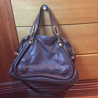 Chloe paraty brown leather bag
