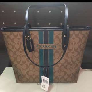 Fast Deal @$120:)-Authentic Brand New Coach Varsity Tote Bag