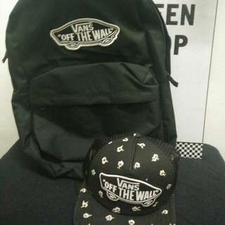 Vans Trucker Cap and Backpack