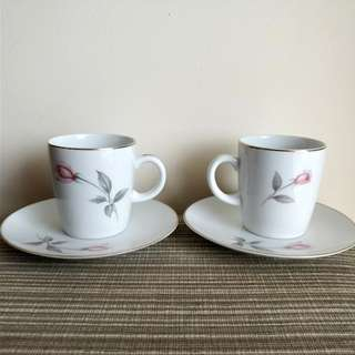 NORITAKE JAPAN COFFEE CUP AND SAUCER