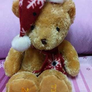 🚚 2006年附真品證書泰迪熊聖誕熊