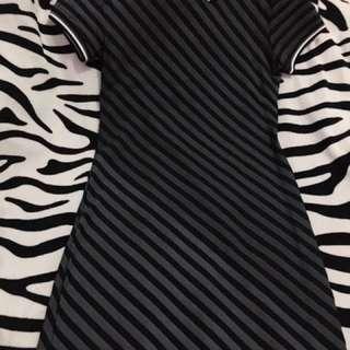 Folded and Hung Stripes dress
