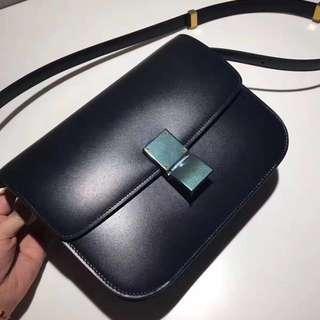 RARE!!!CELINE BOX BAG IN NAVY BLUE