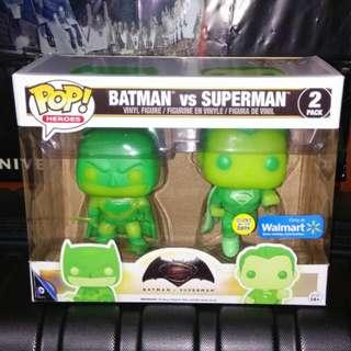(ON HAND) Batman Vs Superman 2-pack Justice League Funko Pop