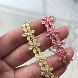 Pastel Floral Chokers (2-in-1)