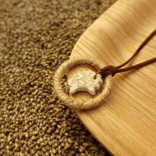 刺蝟陶瓷吊飾