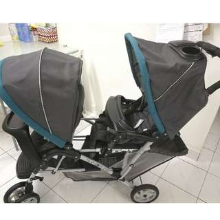 Graco double seats stroller