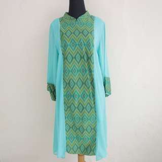 Green Kaftan Combination