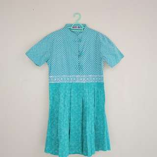 Green Polca Dot Dress
