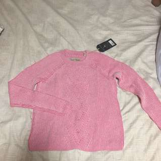 Jack Wills pink sweater UK 8 (new with tag)
