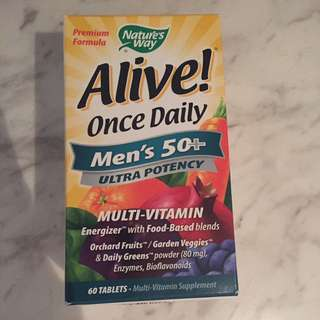 Nature's Way Alive! Men's 50+ multi vitamin 60 tablets