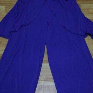 Celana panjang ungu merk Malika
