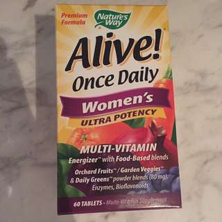 Nature's Way, Alive! Once daily Women's Ultra Potency Multi Vitamin, 60 tablets