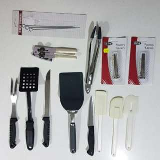 Kitchen Utensils (prices listed)