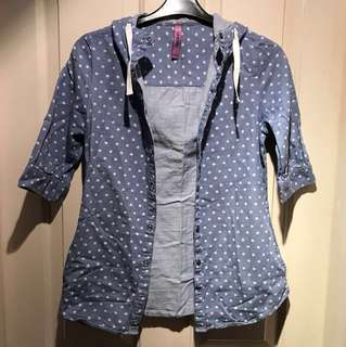 Chambray top (Size S) / 女裝短袖外套(細碼)