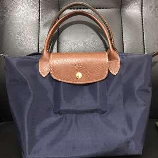 Longchamp 短柄S號 (海軍藍)