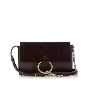 Authentic Chloé Faye mini leather and suede crossbody bag