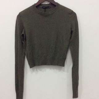 Bershka green army sweater/ sweatshirt