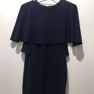 Navy tiered dress size 14