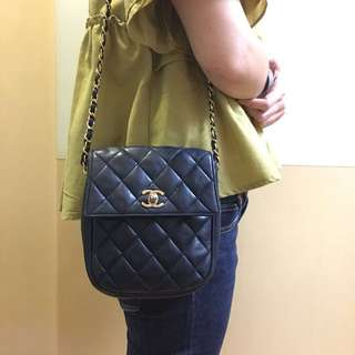 Chanel vintage navy bag