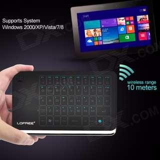 2.4GHz Wireless 48-key Touch Panel Keyboard w/ Auto Sleep - Black + Silver