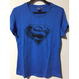 DC blue superman tee
