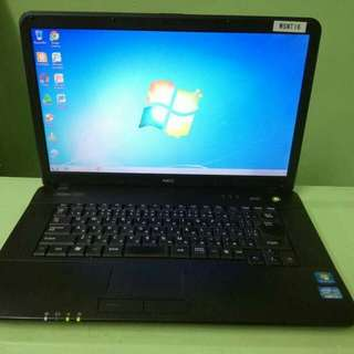 """Laptop from Japan (New arrival) NEC VersaPro VA-D Intel core i3-2330M 2.20ghz (2nd gen.) 2gb ram 320gb hdd Dvd rom 15.6"""" widescreen wifi  Good battery Touchpad ok Keyboard ok Original charger Ready to use P6,500 (fixed)"""