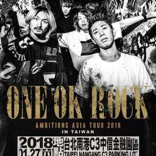 One ok rock 門票2018/01/27 搖滾D區