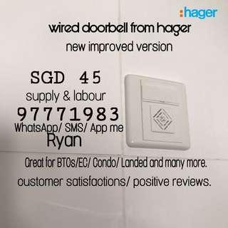Doorbell/ BTO Wired Doorbell/ Electric Doorbell/ Hager