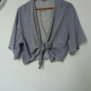 Kimono Pinstripes Top