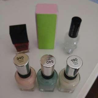 Nail Polish and Manicure Set - Pastel Colours, Red, Matte Coating, & Buffer Bar #BlackFriday50