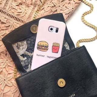 Burger and Fries Phone Case