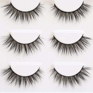 3 set mink eyelashes