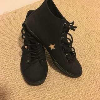 Converse ankle shoes