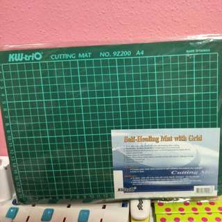 Self-Healing Cutting Mat with grid