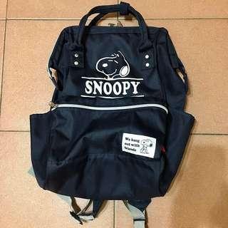SNOOPY日本正版ANELLO大容量後背包(深藍色)