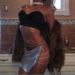 Sexy Rhinestone Chain Skirt
