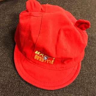 嬰兒帽子 紅色 魔鬼沾